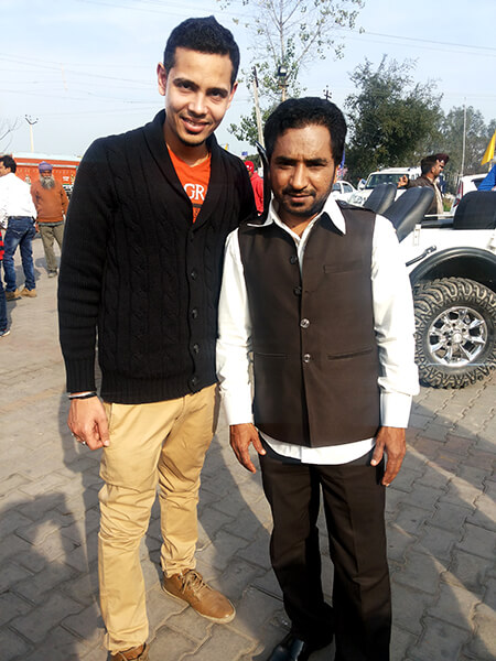 Rana Ranvir Punjabi Actor at shooting